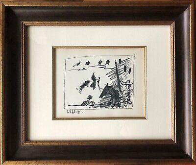Pablo Picasso - Jeu de la cape, A Los Toros - Original Mourlot Lithograph, 1961