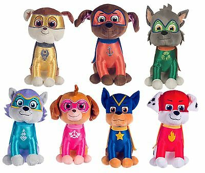 """NEW OFFICIAL 12"""" SUPERHERO PAW PATROL PUP PLUSH SOFT TOY NICKELODEON DOGS"""