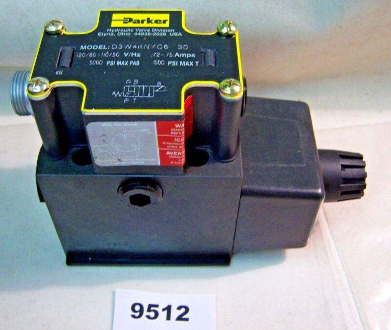 (9512) Parker Directional Control Valve D3W4KVYC6