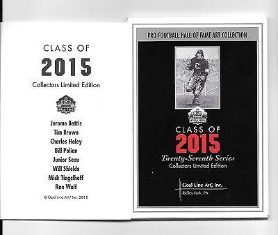 2015 Goal Line Art Card Set Jerome Bettis  Tim Brown  Charles Haley  Ron Wolf