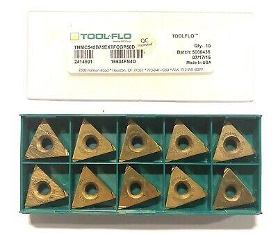 Tool-flo Carbide Inserts Tnmc545b75 Ext Fc Grade Gp50d Indexable Insert 10 Pack