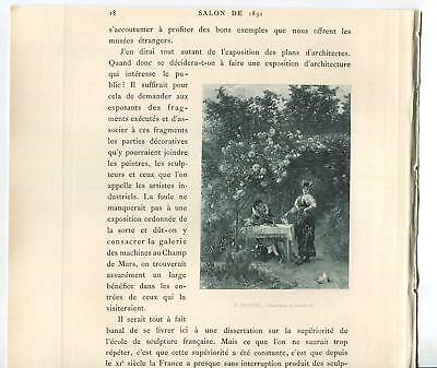 Victorian Trellis - ANTIQUE VICTORIAN ARBOR TRELLIS BOTANICAL CLIMBING ROSES BEER STEIN DOVES PRINT