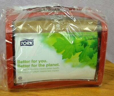Tork Xpressnap Signature Red Napkin Dispenser 6236000xpt With Ad-a-glance