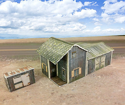 Z Scale Buildings Kit - Weathered Homestead / Depot - Coverstock Paper Kit for sale  Canada