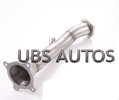 Stainless Steel Exhaust Downpipe cat pass Pipe Fits Audi A4 2.0 TFSI Quattro S3