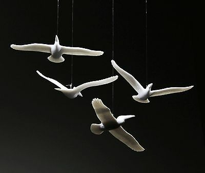 4 PELICAN MOBILE KINETIC Sculpture New by JOHN PERRY 6in wingspan Decor Art