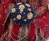 """BEAUTIFUL 9"""" deep blue bouquet excellent condition"""