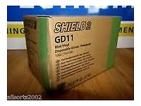 SHIELD 2 GD19 NITRILE GLOVES 10X100 NEW BOX OF 1000 HAIR & BEAUTY MECHANICS DENTAL ECT ECT