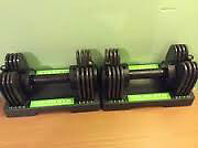 Pair of New Gold's Gym Adjustable Dumbbells 5lbs to 25lbs