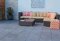 Boral Abode paving tiles 450x450x40mm in Charcoal x 17