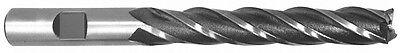 38 X 38 Shank 4f Hss Center Cutting Single End Mill - Extra Long - Usa