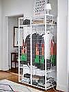 Ikea industrial cage wardrobe.