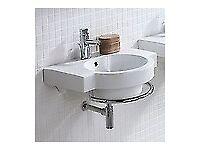 CUBA Bathroom Wall Hung Basin inc Towel Rail (RRP £450) - BNIB