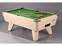 Supreme Winner World Championship Slate Bed Pool Table in Oak Body - New Recover - Accessories LOOK!