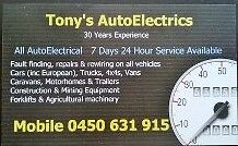 Tony's AutoElectrics - Mobile Auto Electrician Maida Vale Kalamunda Area Preview
