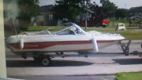 Speedboat 16.5ft., 75hp outboard engine, espadon trailer.