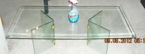Large Bevelled glass top and base coffee table London Ontario image 9