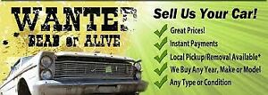 I buy any vehicles that need work or scrap metal