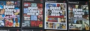 4 x gta games for playstation 2 in mint condition