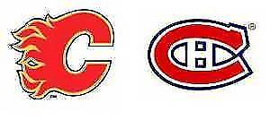 2 Tickets Flames vs Canadiens (CENTER ICE - BEST SEATS) Nov 15