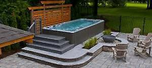 Hot tubs and Swim spas 50% off $1 down 1 year no payments.  if y