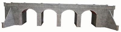 Metcalfe Double Track Viaduct in Stone OO Gauge Card Kit PO241
