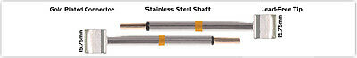 New Thermaltronics M70tz160 Tweezers Cartridge Pair - Blade Tip 15.75mm 0.62