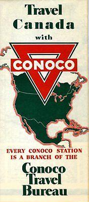 1942 Conoco Road Map: Canada NOS