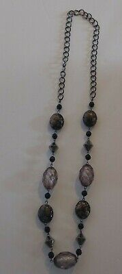 Vintage Statement Necklace Glass Beads Steam Punk Gothic Jewelry