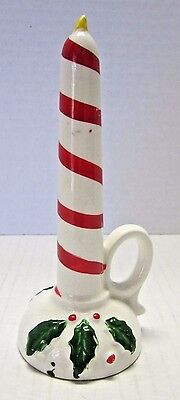 VINTAGE LIPPER & MANN Japan Hand Painted Christmas Candlestick Figure Decoration