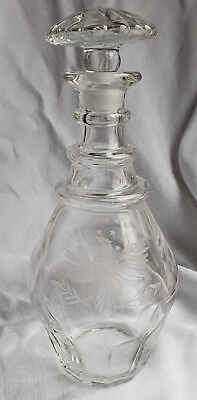 DECANTER WITH ETCHED EAGLE PATTERN BICENTENNIAL COLLECTABLE GLASS , used for sale  Hendersonville
