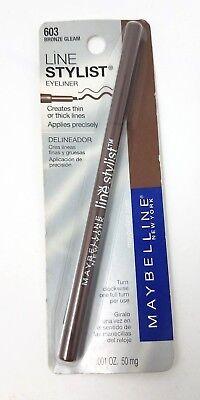 Bent Eyeliner (Maybelline New York Line Stylist Eyeliner 603 Bronze Gleam NEW SEALED)