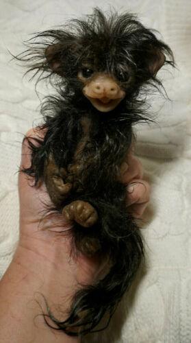 Full Body Silicone Baby Marmoset Baby Boy Monkey Smiling Face Blackberry #8