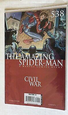 The Amazing Spider-Man Marvel #538 Civil War Event Straczynski Carney