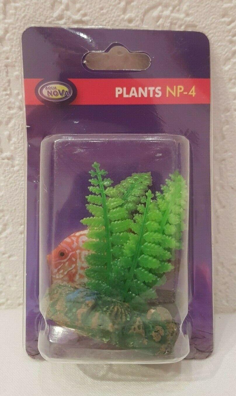 künstliche Aquarium Pflanze grün 4cm - Deko Pflanzen Wasserpflanzen Plastik