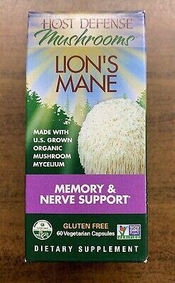 Host Defense Mushrooms Lion's Mane Memory & Nerve Support - 60 Veggie Caps