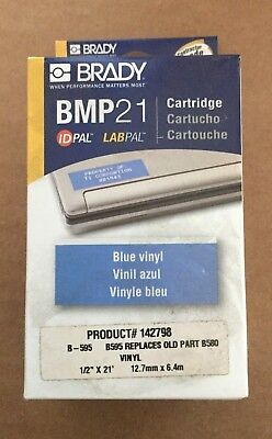 Brady Label Maker Cartridge - Bmp 21 - Blue Vinyl - 12 X 21