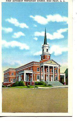 First Methodist Protestant Church High Point North Carolina Vintage Postcard