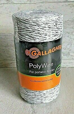 Gallagher Polywire 660 18 Mile Portable Electric Fence Animal Control Farm New