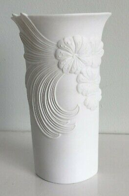 Kaiser White Bisque Porcelain Vase 19cm Tall Signed M. Frey No.740/2 W Germany