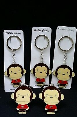 12 Baby Shower Favors Key Chains, monkey, Llaveros, Gift, Girl,niña,Safari,Party - Girl Monkey Baby Shower