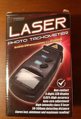 Digital Photo Laser Tachometer Non Contact Tach Rpm Tester Dt2234a New