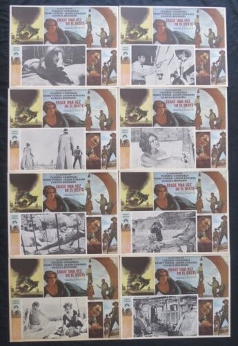ONCE UPON A TIME IN THE WEST Claudia Cardinale MEXICAN LOBBY CARD SET UNUSED 68