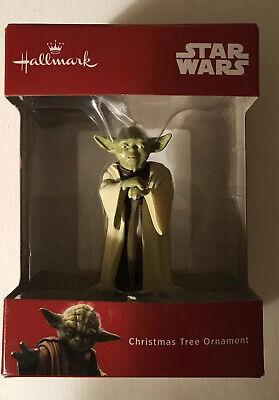 Christmas Ornament Yoda Star Wars Tree Decor Vintage In Original Box Pre Owned