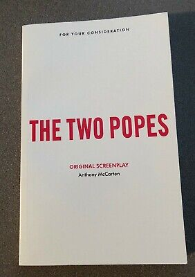 THE TWO POPES FYC 2019 BEST ORIGINAL SCREENPLAY SCRIPT by ANTHONY