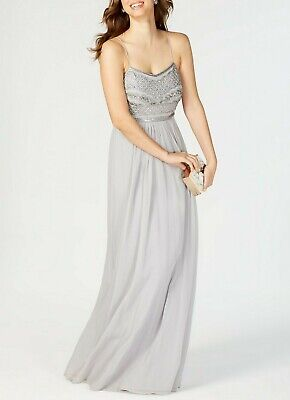 Adrianna Papell Beaded Chiffon Gown MSRP $199 Size 4 # 1A 655 Blm ()