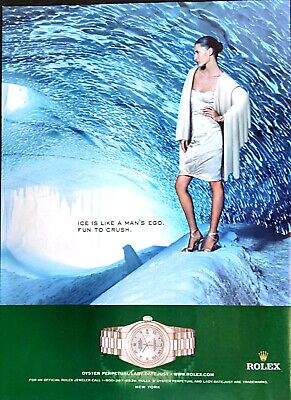 2005 ROLEX Oyster Perpetual Lady Date Just Original Vintage Magazine Print Ad