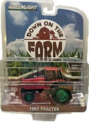 Greenlight CHASE Green Machine 48020-E 1982 Tractor Red and Black w/Dual Wheels Green Machine Wheels