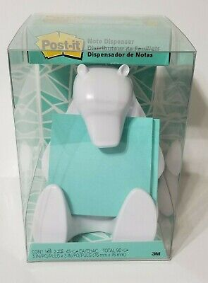 Post-it Note White Polar Bear Post-it Note Dispenser Nib