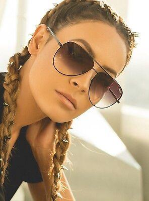 "NEW QUAY AUSTRALIA X DESI PERKINS Black/Fade ""HIGH KEY"" Sunglasses -SALE"